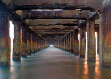 Broken Pier royalty free stock photos