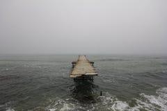 Broken pier. In Varna, Bulgaria Stock Images