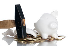 Broken piggy bank Stock Photography