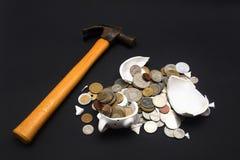 Broken Piggy Bank Royalty Free Stock Photos