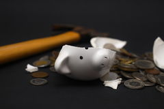 Broken Piggy Bank Stock Images