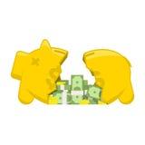 Broken piggy bank Stock Photography