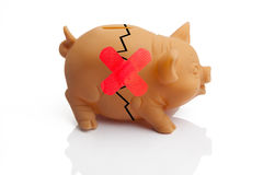 Broken Piggy Bank Royalty Free Stock Photo