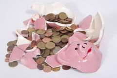 Broken Piggybank Royalty Free Stock Photo