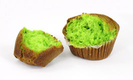 Broken pistachio nut muffin Stock Photos