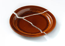 The broken plate. Royalty Free Stock Images