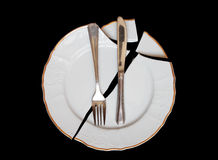 Broken plate Royalty Free Stock Images
