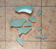 Broken plate Stock Photo