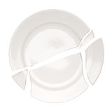 Broken plate Stock Image