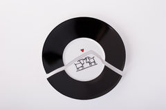 Broken plate. Plate broken into two partson on a white background, broken relationships Stock Photo