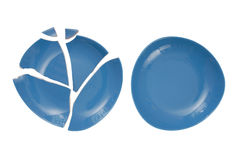 Broken plate and  whole plate Royalty Free Stock Photos
