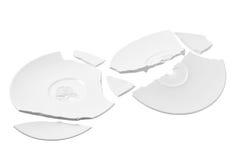 Broken Plates Stock Photos