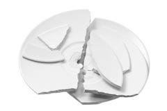 Broken Plates Stock Images