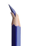 Broken point. Photo of a Broken pencil point over a white back ground stock images
