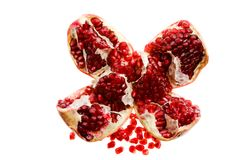 broken pomegranate Royalty Free Stock Photos