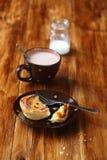 Broken  Portuguese Custard Tart (Pastel de Nata) Stock Image