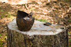 Broken Pottery. At sturbridge village in ma Royalty Free Stock Images