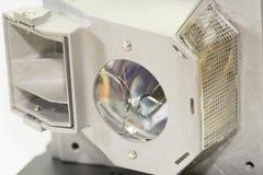 Broken projector lamp, closeup. Closeup view of broken crystal of projector lamp royalty free stock photo