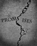 Broken Promises Breached Agreement Stock Photos