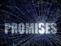 Broken Promises stock images