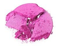 Broken purple eye shadow Stock Photography