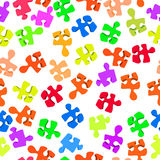 Broken puzzle pattern Stock Photos