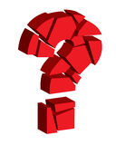 Broken question mark Stock Image