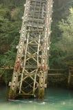 Broken rail bridge Stock Photo