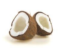 Broken raw ripe coconut Stock Photo