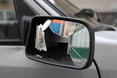 Broken rear mirror Stock Photography
