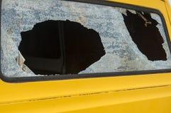 Broken rear van window Stock Image
