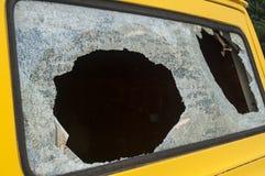 Broken rear van window Stock Photos