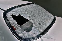 Broken rear window Stock Images