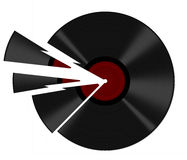 Broken record - pun intended, isolated over white background Stock Images