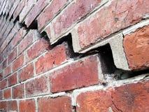 Broken red brick wall Royalty Free Stock Image