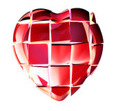 Broken red heart Royalty Free Stock Photography