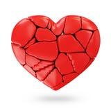 Broken Red Heart Royalty Free Stock Photos