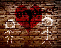 Broken red heart divorce Royalty Free Stock Photo