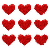 Broken red heart Royalty Free Stock Images