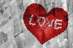 Broken red heart shape. Royalty Free Stock Image