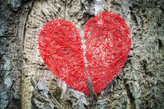 Broken red heart Stock Photography