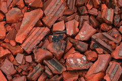 Broken Red roof tiles Stock Image