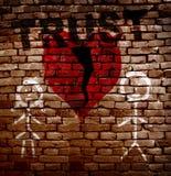 Broken red trust heart Royalty Free Stock Photos