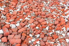 Broken red and white bricks Stock Photography