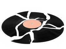 broken registrerad vinyl Arkivbild