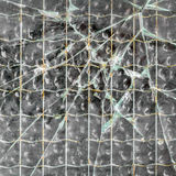 Broken reinforced glass Royalty Free Stock Images