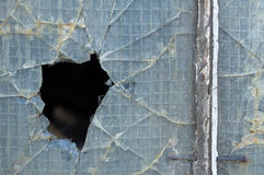 Broken reinforced glass Royalty Free Stock Photos