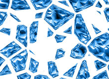 Broken relief blue crystal backgrounds with clipping path Royalty Free Stock Photo