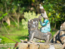 Broken, religious figurine in Mrauk U, Myanmar Royalty Free Stock Image