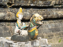 Broken, religious figurine in Mrauk U, Myanmar Stock Photo